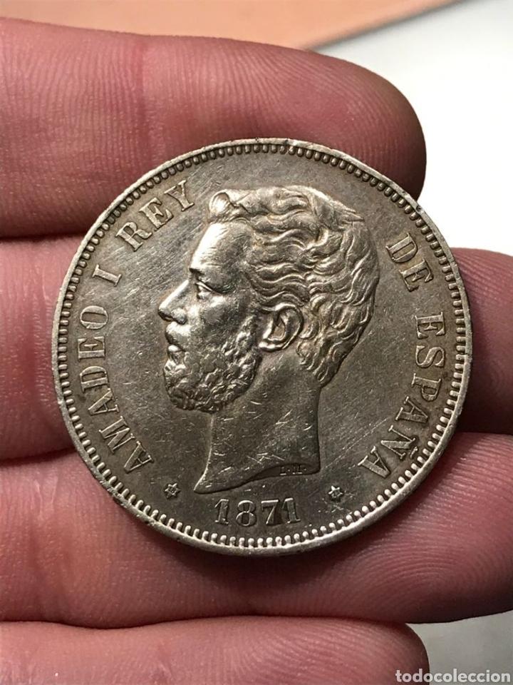 MONEDA DE 5 PESETAS DEL 1871. ESTRELLAS 18-71. REF.19 (Numismática - España Modernas y Contemporáneas - De Isabel II (1.834) a Alfonso XIII (1.931))