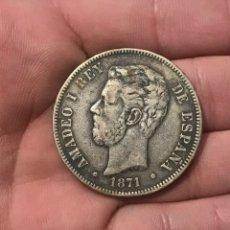 Monedas de España: MONEDA DE 5 PESETAS DEL 1871. ESTRELLAS 18-74. REF.20. Lote 267085149