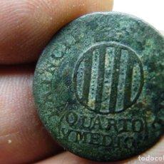 Monedas de España: FERNANDO VII. 1811. CUARTO Y MEDIO. BARCELONA. EXCASA. A LIMPIAR Y CATALOGAR. (ELCOFREDELABUELO). Lote 267415659