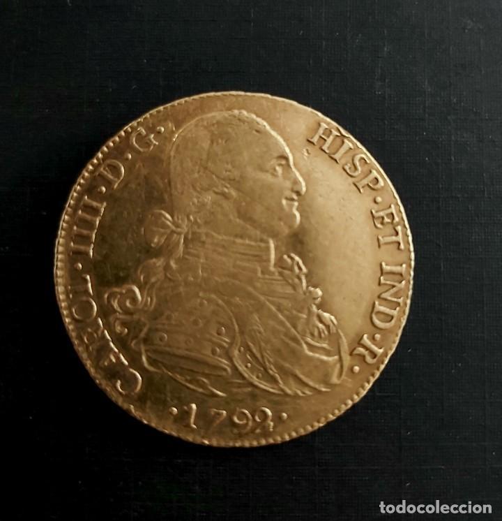 MONEDA DE ORO 27 GR. DE CARLOS IV. REY DE ESPAÑA 1792 (Numismática - España Modernas y Contemporáneas - De Reyes Católicos (1.474) a Fernando VII (1.833))
