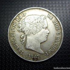 Monete da Spagna: 2 ESCUDOS DE PLATA - ISABEL II - MADRID - 1867. Lote 267749264