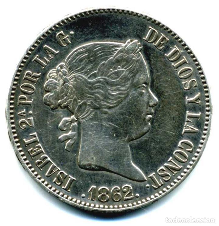 XS- ISABEL II 10 REALES 1862 MADRID EBC EXCELENTE (Numismática - España Modernas y Contemporáneas - De Isabel II (1.834) a Alfonso XIII (1.931))