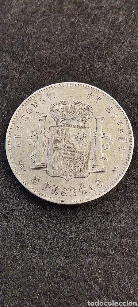 Monedas de España: Moneda 5 pesetas 1897, Alfonso XIII. *97 - Foto 2 - 267814114
