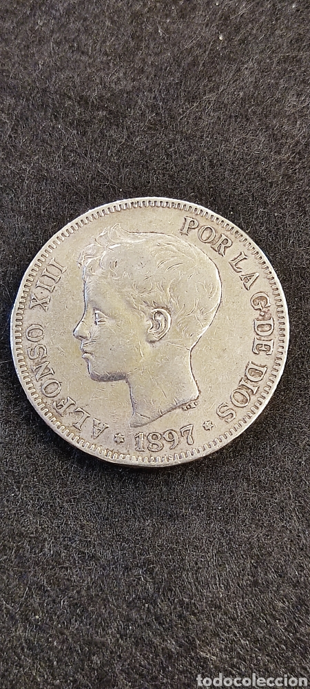 MONEDA 5 PESETAS 1897, ALFONSO XIII. *97 (Numismática - España Modernas y Contemporáneas - De Isabel II (1.834) a Alfonso XIII (1.931))