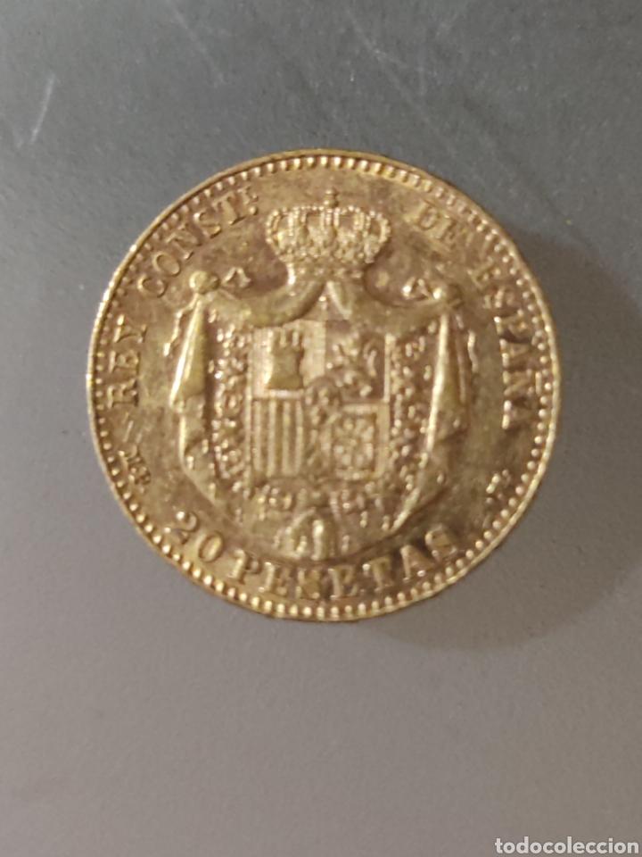 Monedas de España: 20 pesetas 1889 Alfonso Xlll oro - Foto 2 - 267778224
