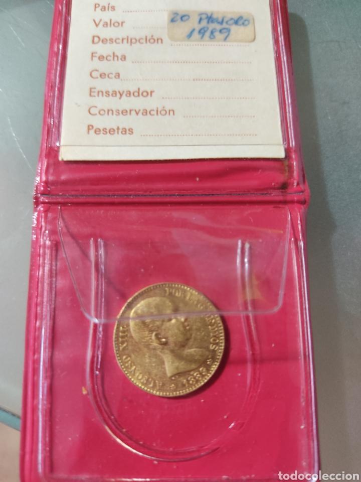 Monedas de España: 20 pesetas 1889 Alfonso Xlll oro - Foto 3 - 267778224