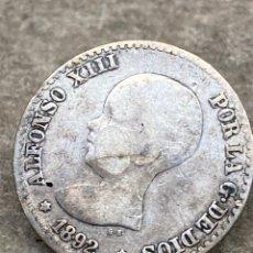 Monedas de España: MONEDA DE PLATA 50 CENT 1892. Lote 267890684