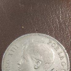 Monedas de España: MONEDA 5 PESETAS 1898 ,ESTRELLAS 18-98 , MBC+ , ALFONSO XIII, DURO DE PLATA. Lote 268263029