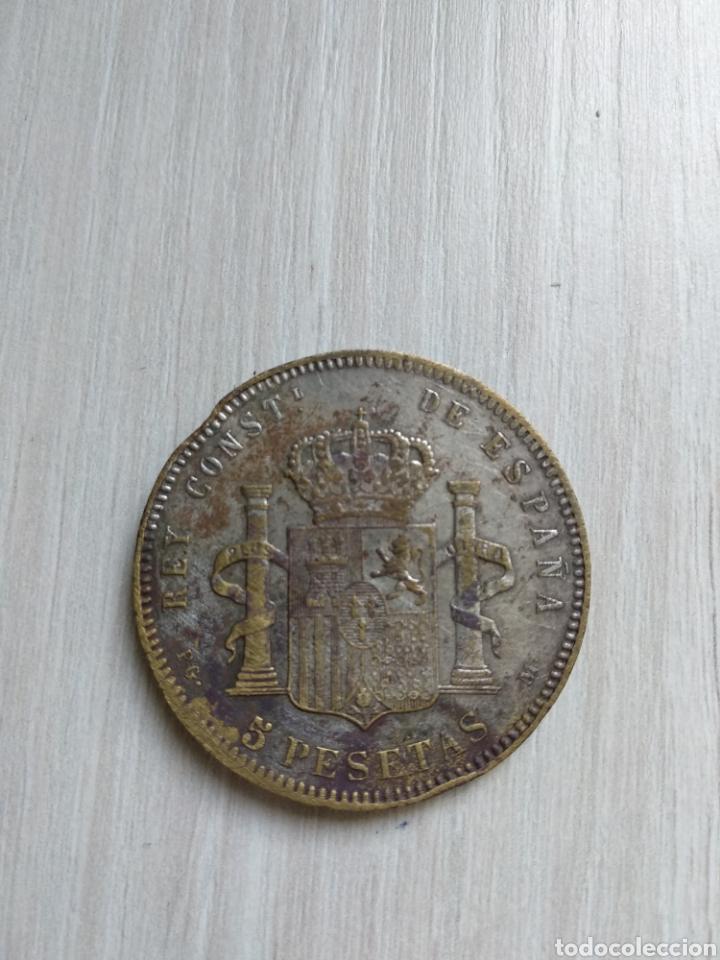 Monedas de España: 5 pesetas 1879 Falsa de epoca - Foto 2 - 268265679