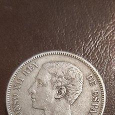 Monedas de España: ALFONSO XII. 5 PESETAS DE PLATA 1875 . DEM. Lote 268481264