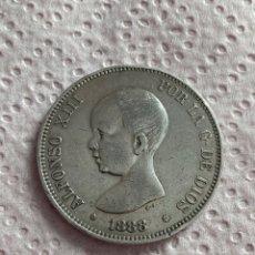 Monedas de España: 5 PESETAS ALFONSO XIII AÑO 1888 *18 -*88 PLATA.. Lote 268815714