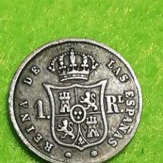 Monedas de España: UN REAL DE ISABEL II. DE PLATA. DE 1859. MUY BIEN CONSERVADA. Lote 269015439