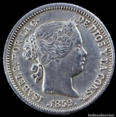 Monedas de España: ISABEL II, 1 REAL DE PLATA DE MADRID, 1859 - 15 MM / 1.32 GR.. Lote 269088108