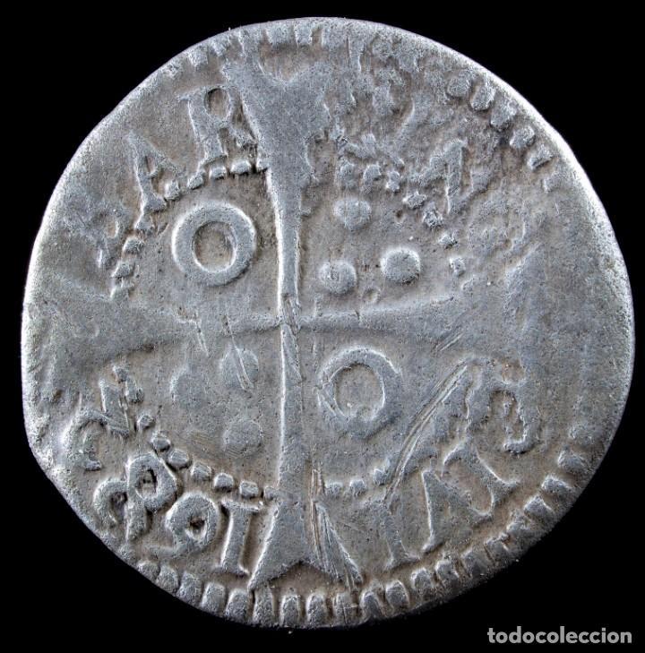 Monedas de España: Carlos II, 1 croat, Barcelona 1682 - 21 mm / 2.29 gr. - Foto 2 - 269088588