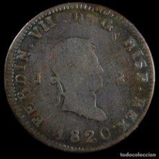 Monedas de España: FERNANDO VII, 8 MARAVEDIS JUBIA 1820 - 32 MM / 10.64 GR.. Lote 269161553