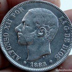 Monedas de España: 5 PESETAS ALFONSO XII 1885* 18*87* PLATA 25GR. Lote 269174288