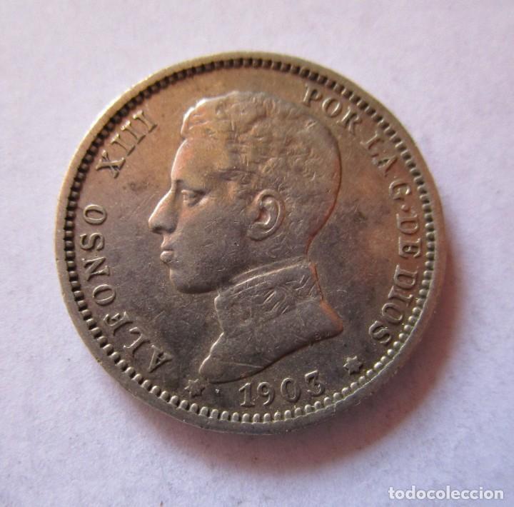 ALFONSO XIII . MUY BONITA PIEZA DE UNA PESETA DE 1903 (Numismática - España Modernas y Contemporáneas - De Isabel II (1.834) a Alfonso XIII (1.931))