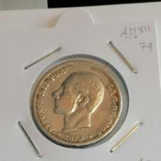 Monedas de España: MONEDA ESPAÑA 2 PESETAS ALFONSO XII DE 1879 PLATA MBC-. Lote 269193788