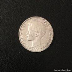 Monedas de España: ALFONSO XIII , PESETA 1900 * 19-00 , PLATA. Lote 269263858