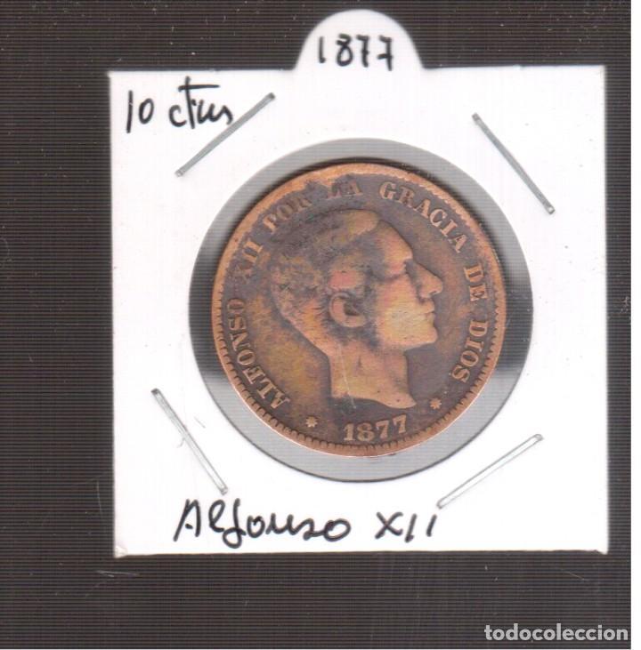 MONEA ES`PAÑOLA LA QUE VES ALFONSO XII 1877 LA QUE VES (Numismática - España Modernas y Contemporáneas - De Isabel II (1.834) a Alfonso XIII (1.931))