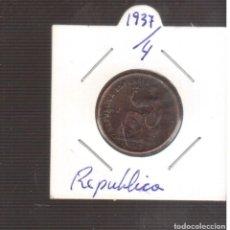 Monedas de España: MONEDA ESPAÑOLA II REPUBLICA 0,50 CENTIMOS 1937/4 LA QUE VES. Lote 269284943