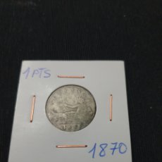 Monedas de España: ANTIGUA MONEDA PLATA 1 PESETA 1870 GOVIERNO PROVISIONAL. Lote 269310653