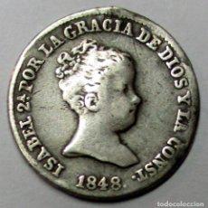 Monedas de España: ISABEL II, 1848. MONEDA DE 1 REAL, CECA DE MADRID-C.L. LOTE 3836. Lote 269357713