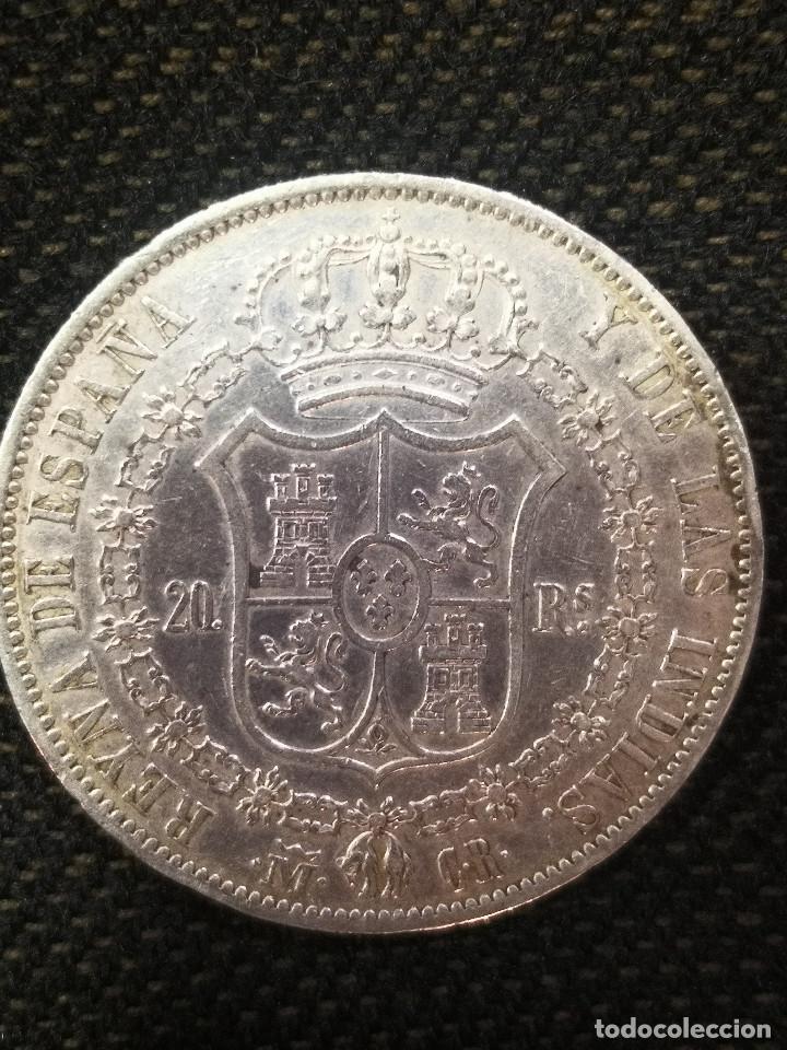 RARA Y ESCASA MONEDA - ISABEL I I - 20 REALES PLATA -1836 - (Numismática - España Modernas y Contemporáneas - De Isabel II (1.834) a Alfonso XIII (1.931))