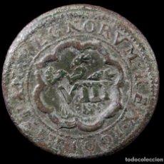 Monete da Spagna: FELIPE III, RESELLO 8 MARAVEDIS, SEGOVIA, SOBRE 4 DE 1601 - 27 MM / 6.21 GR.. Lote 269470213