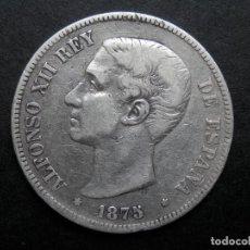 Monedas de España: 5 PESETAS DE PLATA AÑO 1875 DEM ESTRELLAS *75 BORROSA. DURO DE PLATA. Lote 269652798