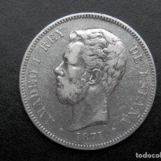 Monedas de España: 5 PESETAS DE PLATA AÑO 1871 DEM ESTRELLAS *18 *74. LAS DOS ESTRELLAS VISIBLES. DURO DE PLATA. Lote 269653033