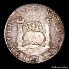 Moedas de Espanha: CARLOS III - 8 REALES 1770 FM - MEXICO - COLUMNARIO.. Lote 269770763