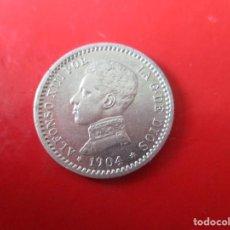 Monedas de España: ALFONSO XIII 50 CENTIMOS DE PLATA. 1904 *1-0. Lote 270000588