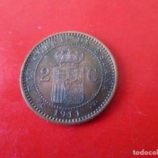 Monedas de España: ALFONSO XIII 2 CENTIMOS 1911. Lote 270000673