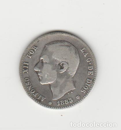 ALFONSO XII- 1 PESETA- 1885*18-86 MSM (Numismática - España Modernas y Contemporáneas - De Isabel II (1.834) a Alfonso XIII (1.931))