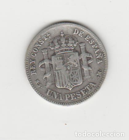 Monedas de España: ALFONSO XII- 1 PESETA- 1885*18-86 MSM - Foto 2 - 270597553