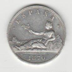 Monedas de España: GOBIERNO PROVISIONAL-5 PESETAS- 1870*18-70 SNM. Lote 270598433