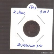 Monedas de España: MONEDAS DE ALFONSO XIII 2 CTMOS 1904 LA QUE VE S. Lote 270892353