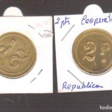 Monedas de España: MONEDA DE LA REPUBLICA COOPERATIVA 2 PESETAS. Lote 270894868