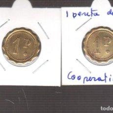 Monedas de España: MONEDA DE LA REPUBLICA COOPERATIVA 1 PESETAS LAS DOS CARAS IGUALES. Lote 270894933