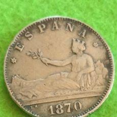 Monedas de España: 2 PESETAS DE 1870 DE PLATA. ESTRELLA 70. BIEN CONSERVADA. Lote 271563363