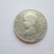Monedas de España: ALFONSO XIII * 2 PESETAS 1892*92 PG M * PLATA. Lote 271686548