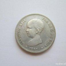 Monedas de España: ALFONSO XIII * 2 PESETAS 1892*92 PG M * PLATA. Lote 271687708