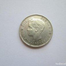 Monedas de España: ALFONSO XIII * 50 CENTIMOS 1900*00 SM V * PLATA. Lote 271692273