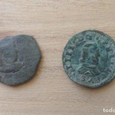Monedas de España: LOTE DE 2 MONEDAS DE FELIPE IV,CECA MADRID.. Lote 271955488