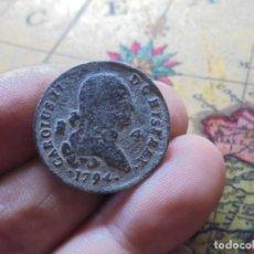 Monedas de España: BONITA MONEDA DE CARLOS IV ,4 MARAVEDIS,FECHA ESCASA 1794. Lote 272011073