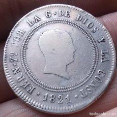 Monedas de España: 10 REALES RESELLADO - FERNANDO VII - BILBAO 1821 13GR. AR.. Lote 272035843