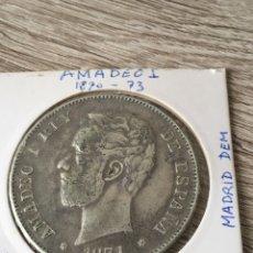 Monedas de España: BONITO DURO DE PLATA DE 1871*74, FALSO SE EPOCA, ESTRELLAS VISIBLES. Lote 272073743