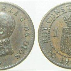 Moedas de Espanha: MONEDA DE ALFONSO XIII 1 CÉNTIMO 1913 PCV *3. Lote 272085918