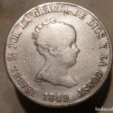 Monedas de España: ¡¡GRAN OFERTA !! 4 REALES EN PLATA DE 1849-EXCELENTE ESTADO Y CALIDAD. Lote 272212498